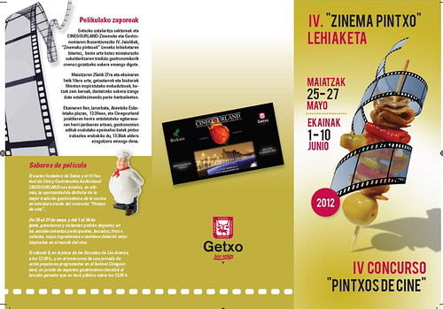 Folleto IV Concurso Pintxos de Cine de CineGourland 1