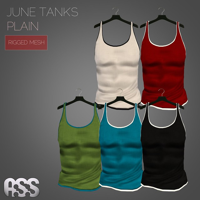 A:S:S - June tank tops - plain (MESH)
