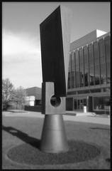 "College for Creative Studies, Josephine Ford Sculpture Garden: ""Normanno Wedge I""--Detroit MI"