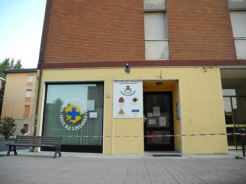 La sede della Croce Blu di San Prospero