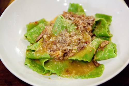 Pappardelle with Spicy Marinated Pork Shoulder & Pecorino