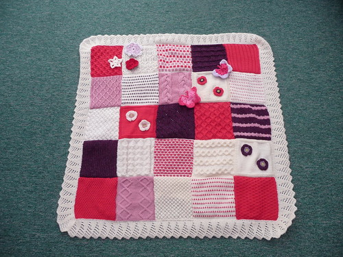 Squares were made from 'The Knitting Book
