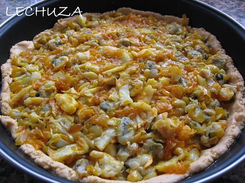 Empanada millo-Bacalao y berberechos (8)