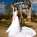 Beautiful bride in the park in spring.