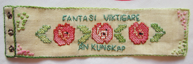 Embroidered bracelet by Margot
