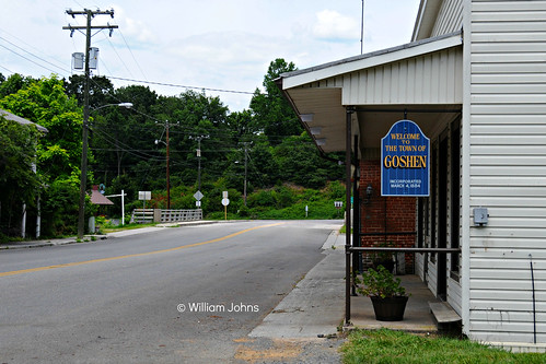 city sign virginia town va incorporated goshen