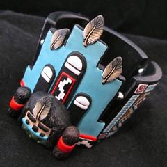 Blue Corn Maiden Tile Bracelet