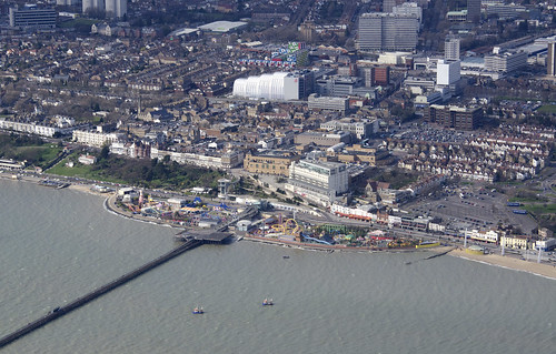 Southend aerial image - on the coast of Essex UK