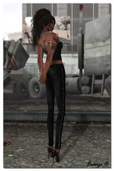 New Mesh Leather Pants Slim by Immerschoen 3