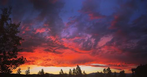 sunset colorado clouds orange