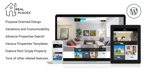 Real Places v1.4.0 – Responsive WordPress Real Estate Theme