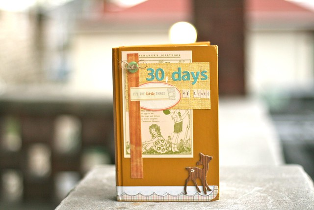 30 Days of Lists Book March 2012 by Megan Anderson