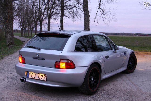 1999 Z3 Coupe | Arctic Silver | Black | Time Attack Stripe Black Wheels