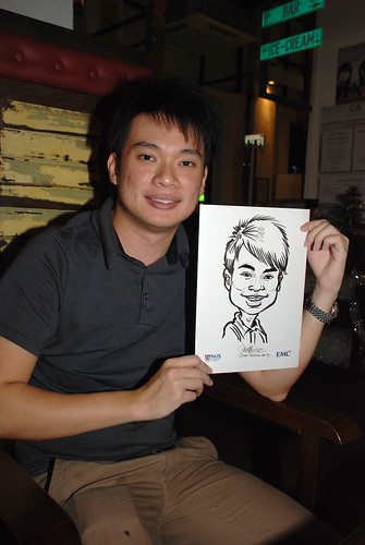 caricature live sketching for emc NUS - 18