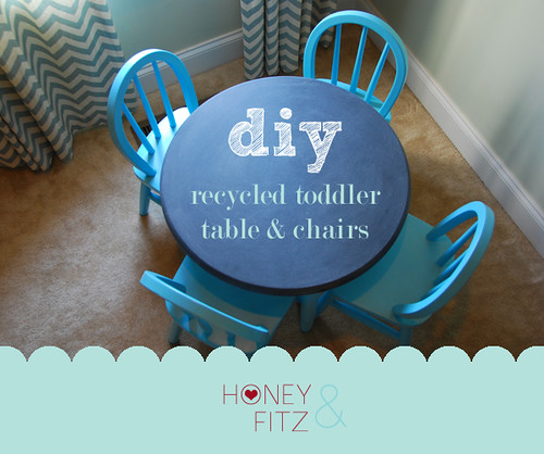DIY Recycled Table and Chairs for Kids