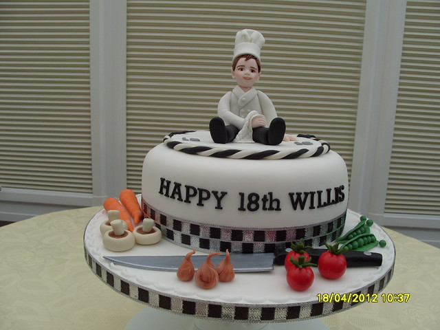 Cake Ideas For A Chef : Chef s Cake 18th Birthday Chocolate Swirl sponge with ...