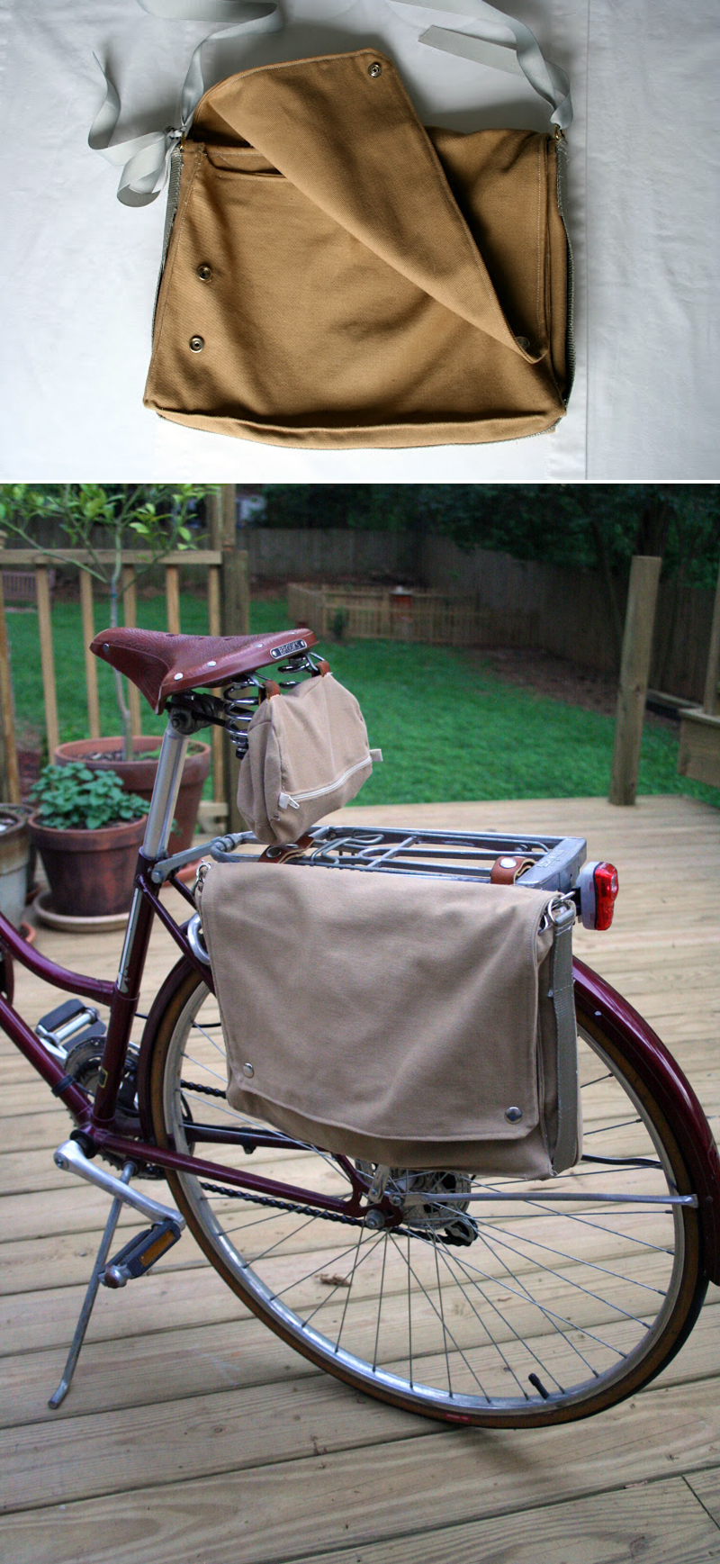 Elizabeth Stevens Morris Eighteenth Century Agrarian Business pannier bike saddlebag Glass and Sable Home Closet Tool