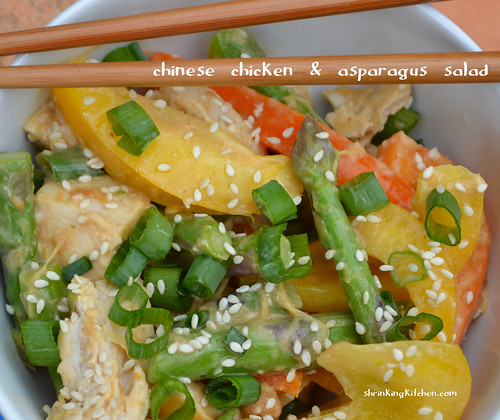 Chinese Chicken & Asparagus Salad from the Shrinking Kitchen