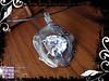 Pendant Silver White CZ Trilliant 01