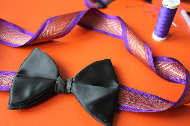 {diy) boy meets girl...mens bowtie belt