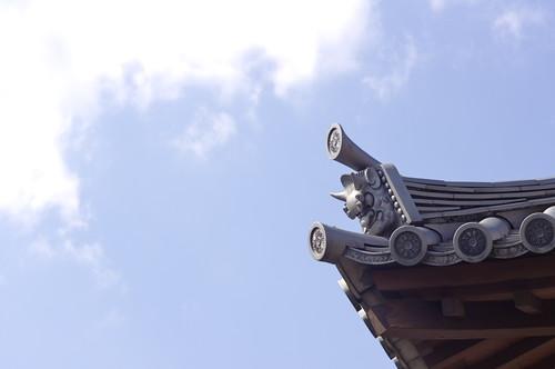 光源寺の鬼瓦