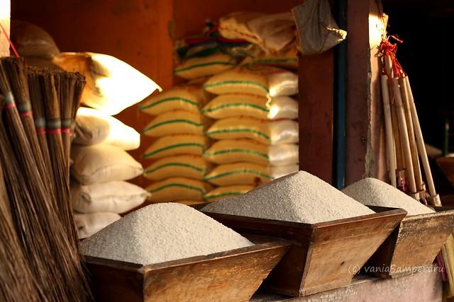 Rice in Ciwidey Market