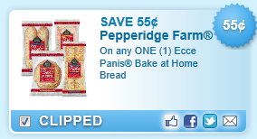 Pepperidge Farm Ecce Panis Bake At Home Bread Coupon