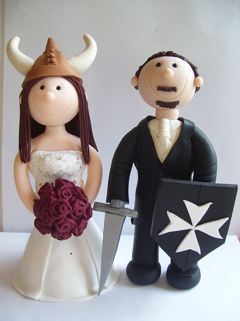 Wedding Cake Toppers Viking Themed Craftjuice Handmade