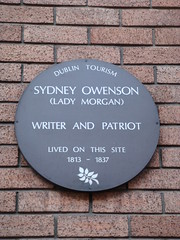 Photo of Sydney Owenson grey plaque