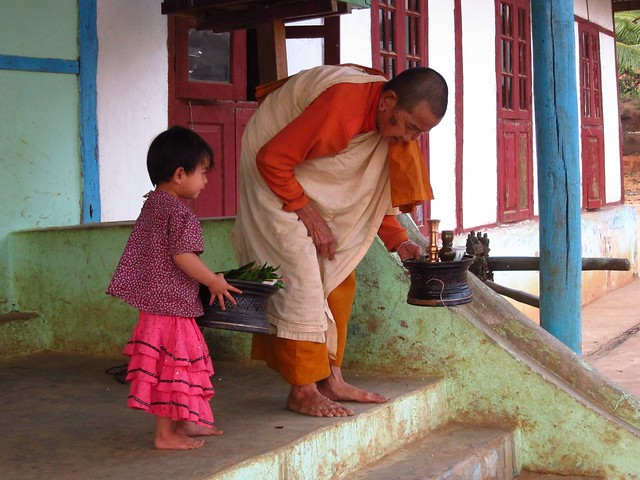 Nun and Child in Pankam Village (Shan State)