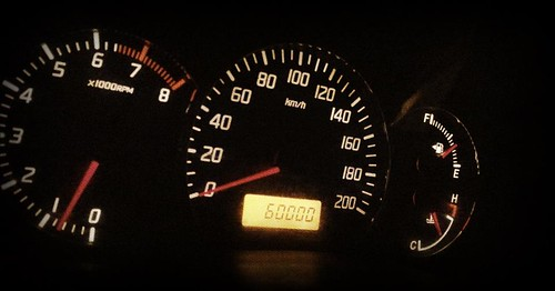 Image of 60000 Kilometer Mark on the Swift