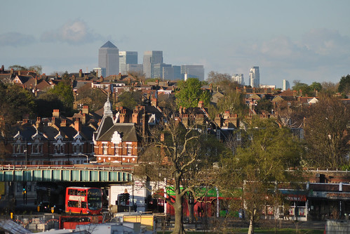 Canary Wharf from Brockwell Park