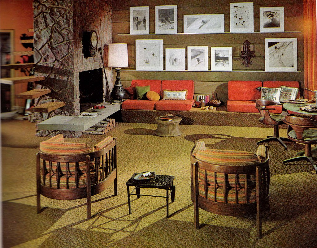 Retrospace the vintage home 15 1965 interiors for 70s style living room ideas