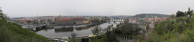 Prague city panorama, screen