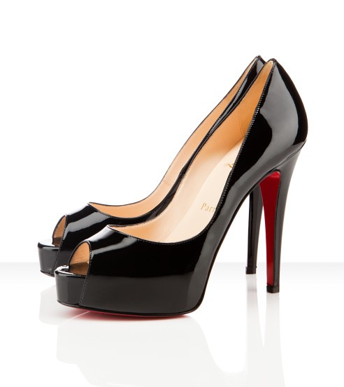 on sale 5536c fcd65 Christian Louboutin Patent Leather Hyper Prive 120mm Black ...