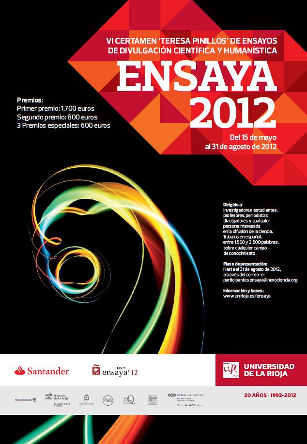 """Ensaya'12: VI Certamen """"Teresa Pinillos"""" de ensayos de divulgación científica y humanística"""