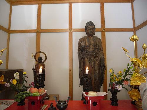 笠山荒神社『竹林寺』の薬師如来立像(重文)@桜井市笠