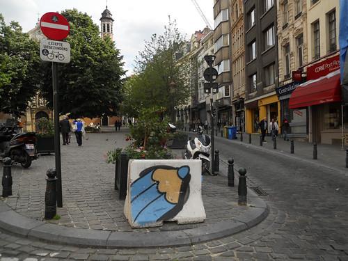 La Ville de Bruxelles aime les crayons, visiblement :)