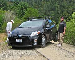 hatchback(0.0), automobile(1.0), automotive exterior(1.0), toyota(1.0), vehicle(1.0), bumper(1.0), toyota prius(1.0), land vehicle(1.0),