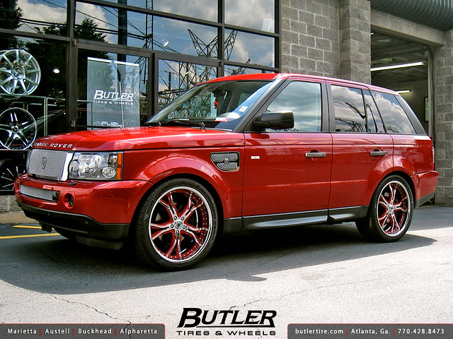 Range Rover Sport with 22in Asanti AF176 Wheels with Strut Grille Kit