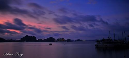 sunrise vietnam halongbay 日出 越南 下龍灣