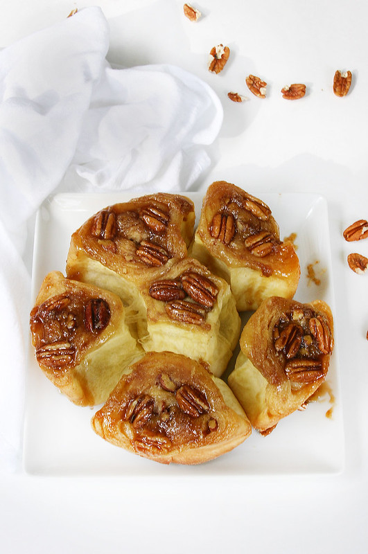 sticky buns white close up