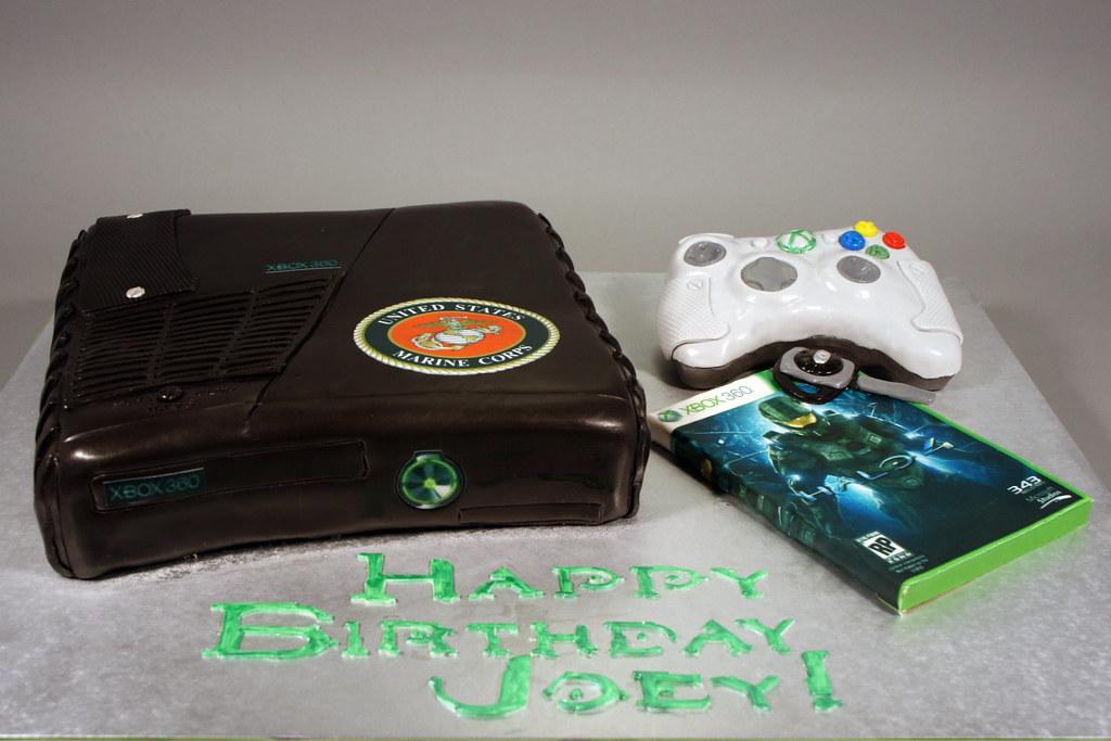 XBox 360 Slim Birthday Cake