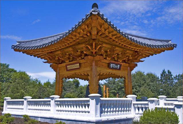 Korean Bell Pavilion Meadowlark Botanical Gardens Vienna Va May 2012 Flickr Photo Sharing