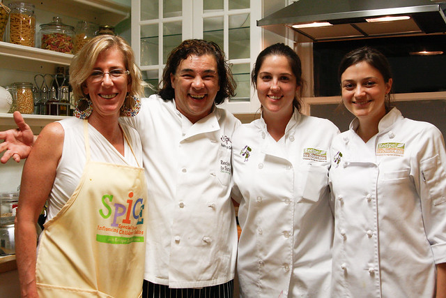 Michelle Bonilla, Chef Peter Garica, Kendall Moister and Alyssa Dole