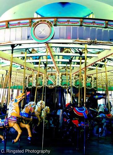 Life: Earlier Today, Santa Cruz Carousel by Sanctuary-Studio