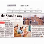 Pune Mirror Covers Shaolin India Launch by Shifu Kanishka, Shifu Shi Yanfang and Da Shifu Shi Hengjun. www.shaolinindia.com