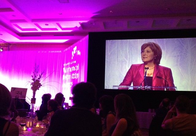 2009 Woman of Distinction herself, @ChristyClarkBC speaking @YWVanWODA