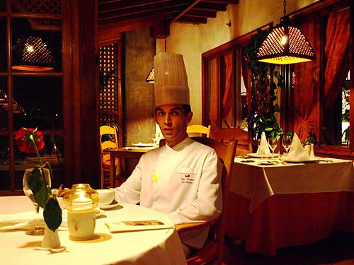 Chef José Marín in La Parrilla, Hotel Botánico