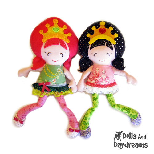 Pocket Princess doll sewing pattern 1a